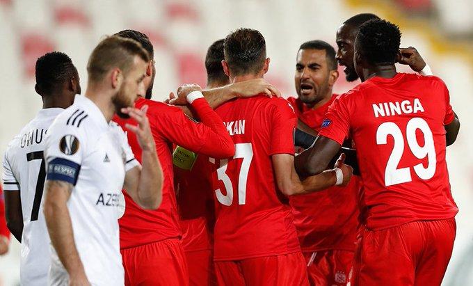 UEFA Avrupa Ligi'nde Sivasspor, Karabağ'ı mağlup etti