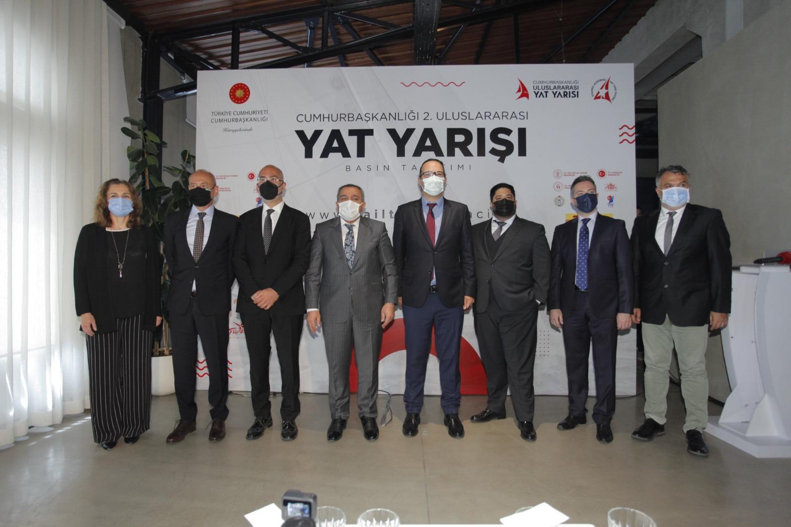 Cumhurbaşkanlığı 2.Uluslararası Yat Yarışları'nın rotası ve takvimi düzenlenen basın toplantısında açıklandı